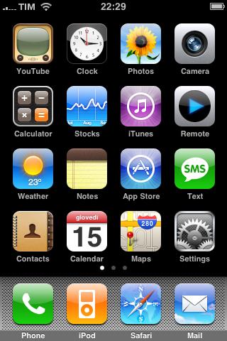 screen shot in iphone 3g colore digitale blog. Black Bedroom Furniture Sets. Home Design Ideas